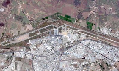 Photo satellite Aeroport Alger Algerie