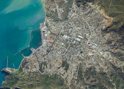 image satellite Bejaia Algerie