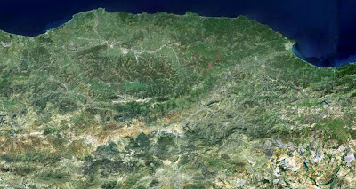 Photo satellite Kabylie Algerie
