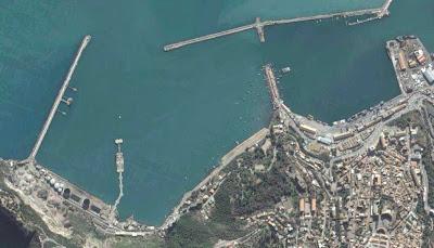 photo satellite bejaia port petrolier Algerie