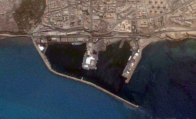 photo satellite port mostaganem Algerie