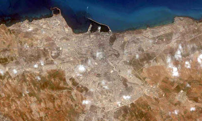 photo satellite mostaganem Algerie