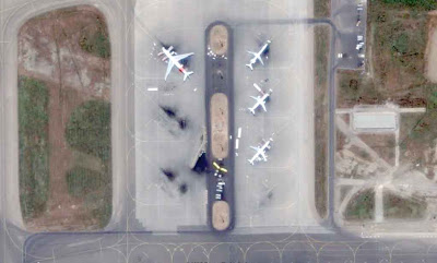 Photo satellite aeroport Alger Algerie
