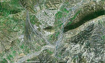 Photo satellite Akbou Kabylie Algerie