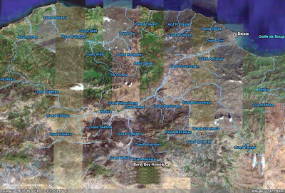 Photo satellite Kabylie Algerie