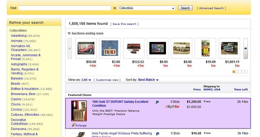 how to change ebay default listing