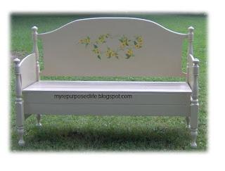 extra large headboard bench