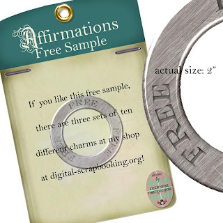 Affirmations Charms freebie!