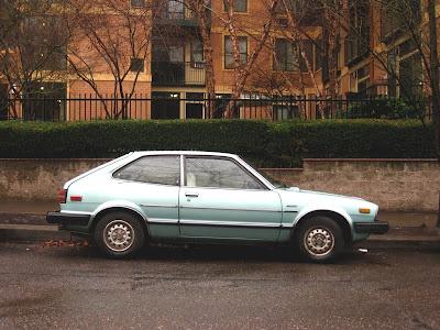 OLD PARKED CARS.: 1980 Honda Accord LX Hatchback.
