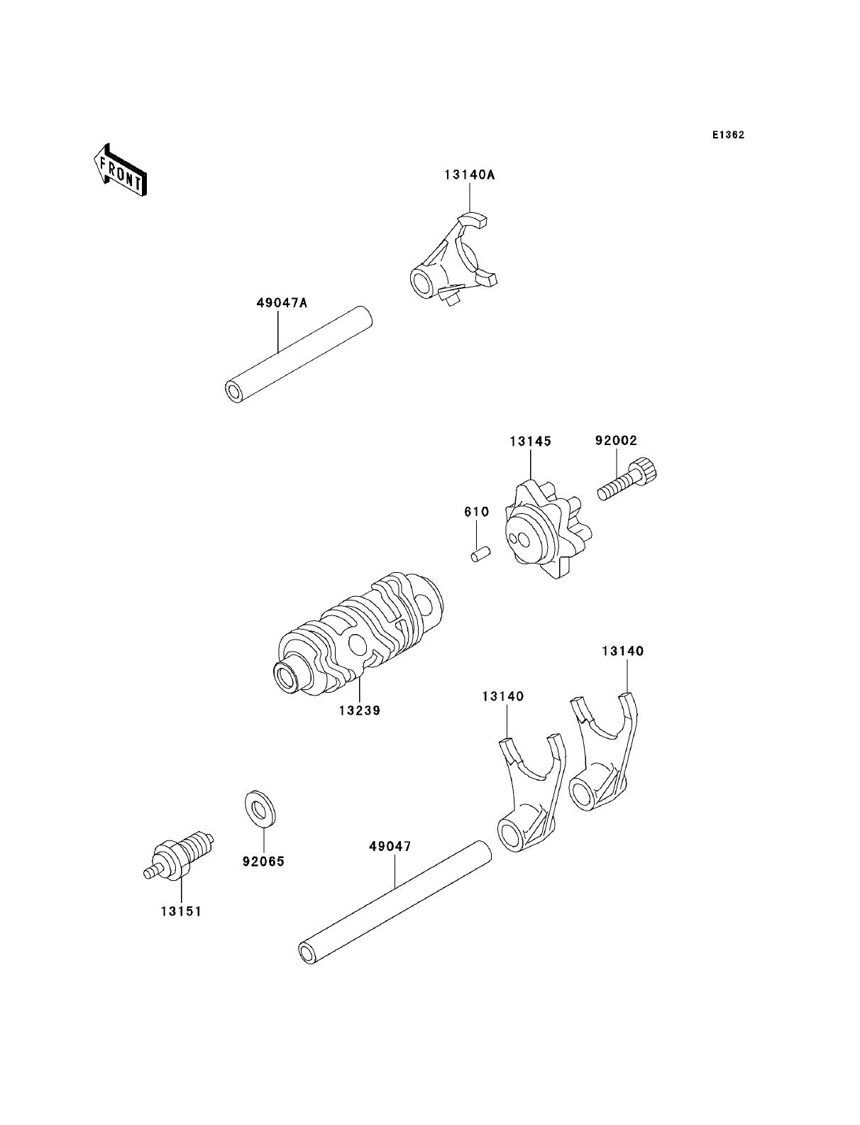 Kawasaki KLR250: Kawasaki KLR250 Parts Diagrams