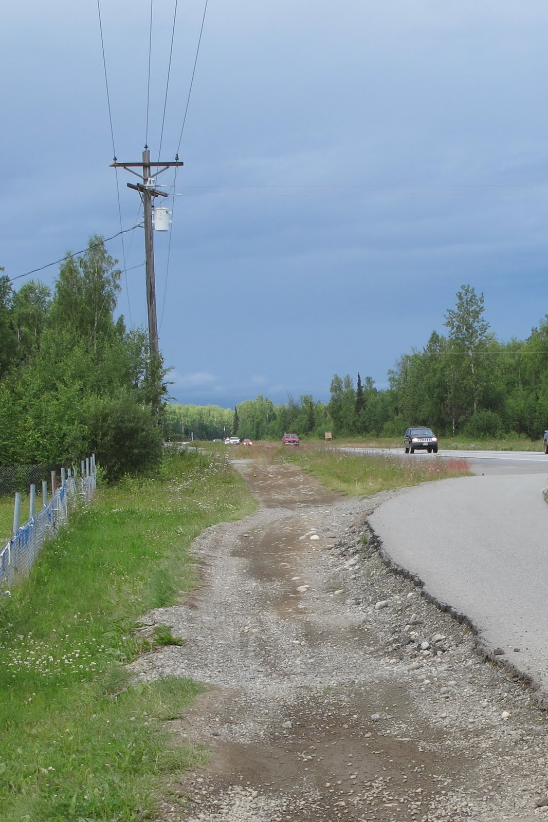 One of the things we've noticed in Alaska is ATV paths beside every road.  In Chico they have bicycle and jogging paths, but here they not only have  ATV ...
