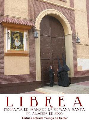 "La portada del LIBREA de mano en el bog de la Tertulia ""Venga de frente"""