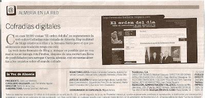 El orden del día en La Voz de Almería