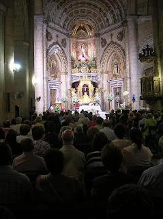 Ayer comenzó el Triduo en honor a la Virgen del Mar con el Santuario a rebosar de fieles