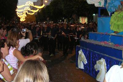 La Agrupación musical de Nuestra Señora del Mar en la Cabalgata de la Feria