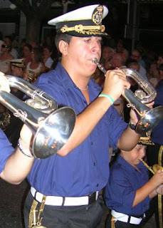 La Agrupación musical de Nuestra Señora del Mar presente en la Batalla de Flores