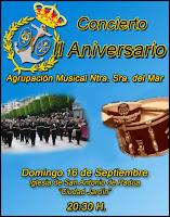 La Agrupación musical de Ntra. Sra. del Mar celebrará su segundo aniversario con un concierto