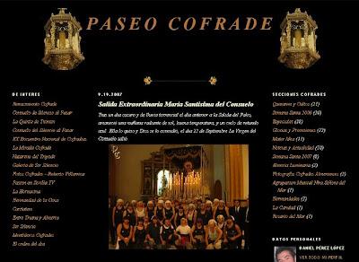 Remodelación del blog PASEO COFRADE