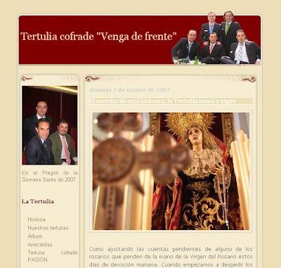 """La Tertulia cofrade """"Venga de frente"""" presenta su blog"""