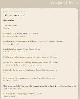 La revista LIBREA en internet