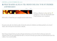 """""""Nazareno del trípode"""" se suma a las felicitaciones por el aniversario de El orden del día"""