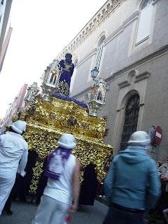 """El Prendimiento desde la calle Cervantes en """"La conspiración de las mantillas"""""""