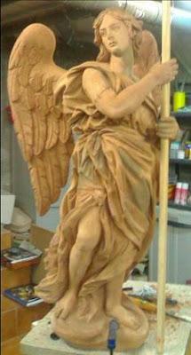 Dos ángeles mancebos ceriferarios de Fernando Murciano para el paso del Cautivo