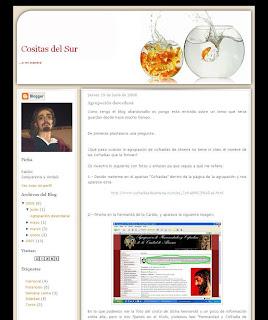 """Algunos errores de la web de la Agrupacion al desnudo en """"Cositas del Sur"""""""