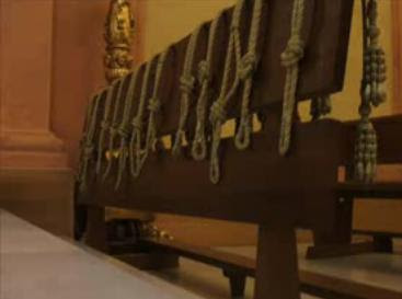 El montaje del palio de la Merced resumido en un vídeo de apenas 3 minutos