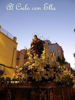 La Virgen de los Ángeles recorre su barrio