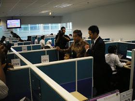 Menkominfo Kunjungi Garuda Call Center
