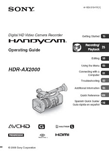 Notes On Video: HDR-AX2000 manual is online