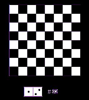 Tablero de ajedrez y 32 fichas de domin