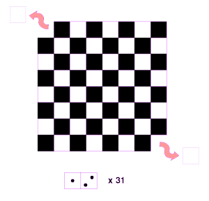 Tablero sin esquinas y 31 fichas de dominó