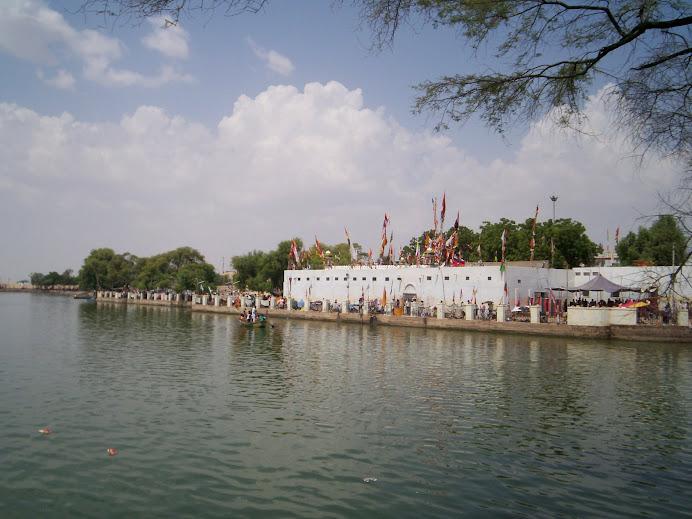 Ramsarowar Talab & Baba Ramdev Temple View