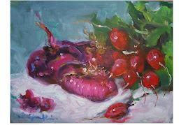 Red Onion Still life Painting