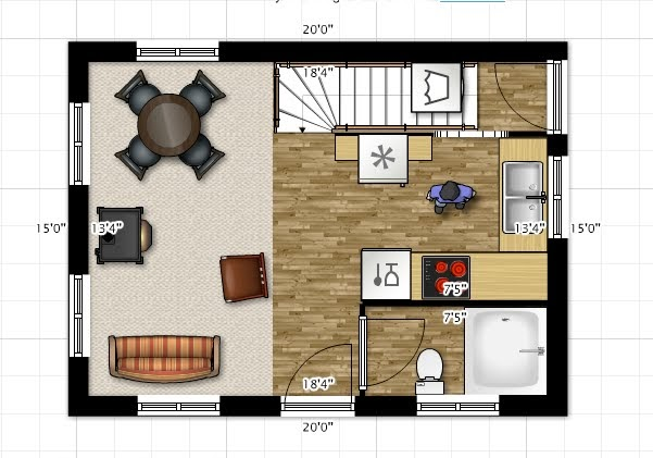 Home Design Sketches And Inspirations: 4 15'x20' Floor Plans