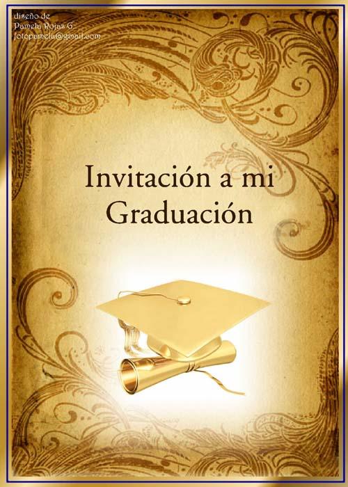 Tarjetas de invitación para grado universitario - Imagui