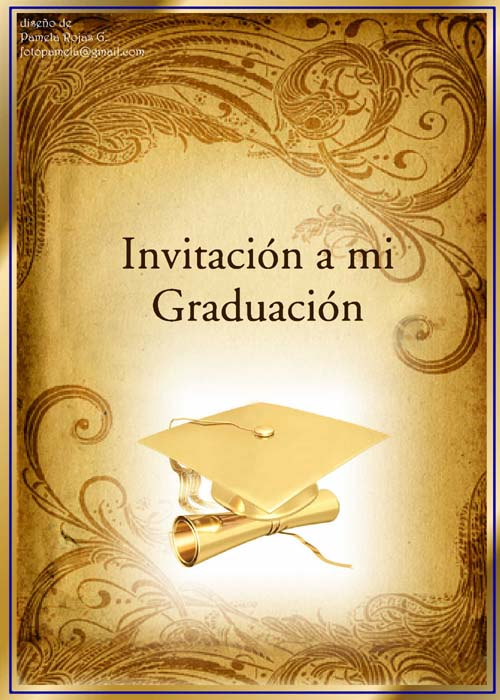 Imagenes De Invitaciones Para Graduacion