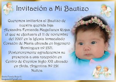 invitacion angelitos
