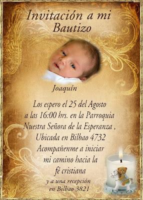 modelos de tarjetas de invitacion para bautizo