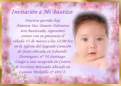 Fondos para invitación de bautizo gratis - Imagui