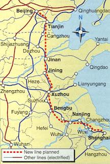 Resultado de imagem para ferrovia Beijing-Shanghai