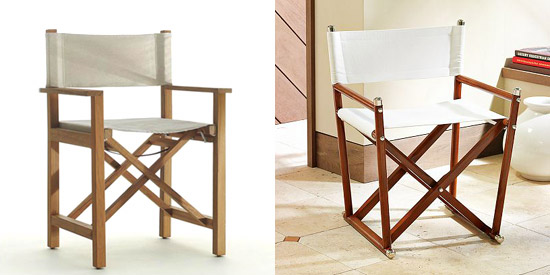 James And Williams Sonoma Directors Chairs