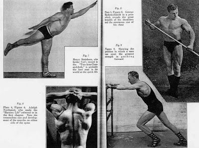 Old School Weight Training Strength Strongman Lifting Power Vintage