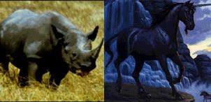 Badak bercula satu dengan Unicorn