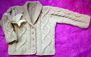ABC Knitting Patterns – Baby Seamless Cardigan.