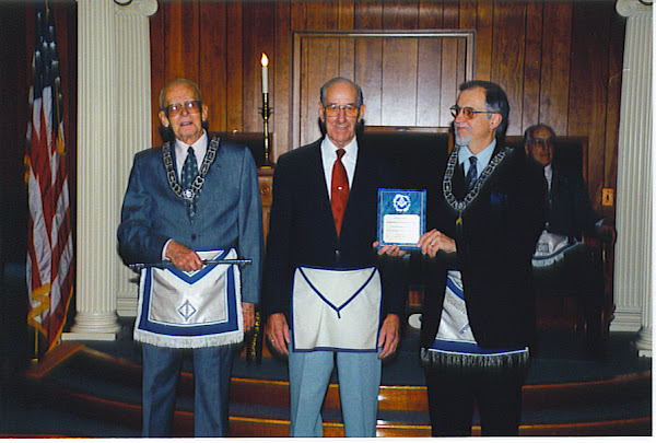 Bro. Joe Receives The First Past Master's Service Award