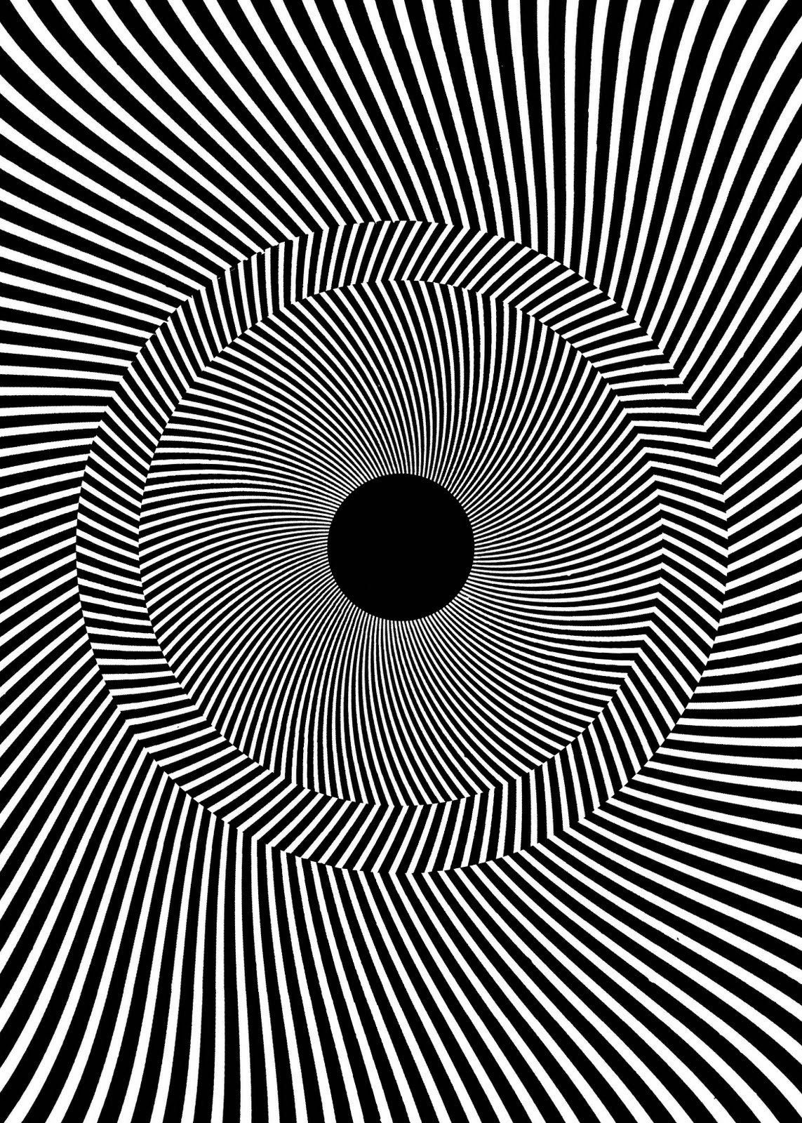 optical illusion lines illusions illussion fractal tilted rotating vector viral line lab project number comments