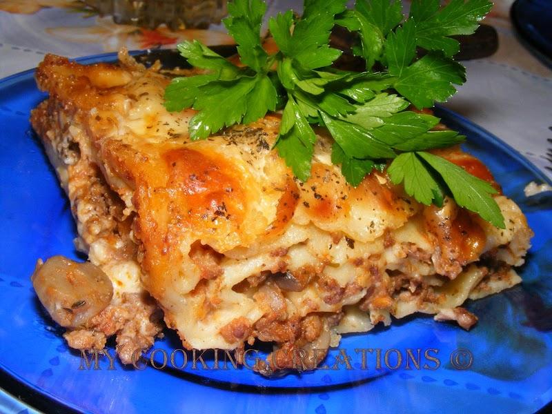 Домашна лазаня * Lasagna fatа in casa